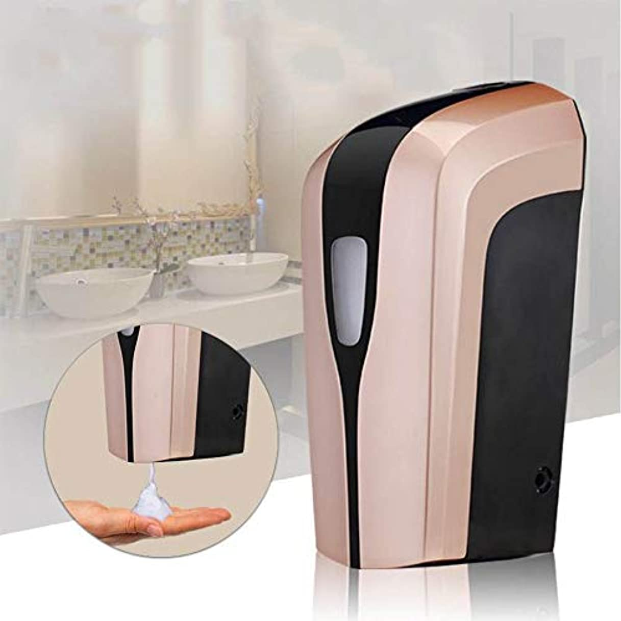 狂うしゃがむフィドルソープディスペンサー 400ミリリットル容量の自動ソープディスペンサー、タッチレスバッテリーは電動ハンドフリーソープディスペンサーを運営しました ハンドソープ 食器用洗剤 キッチン 洗面所などに適用 (Color : Local...