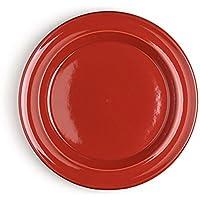 Emile Henry 中皿 レッド φ21.0×H2.0cm サラダプレート EH348870