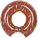 [rootQ] 浮き輪 ドーナツ 直径 60cm 90cm 120cm 子供用 大人用 プール 海 ドーナツフロート (90cm, チョコレート) [並行輸入品]