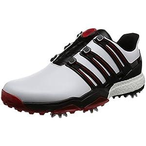 [アディダスゴルフ] ゴルフシューズ スパイク powerband Boa boost powerband Boa boost Q44870 ホワイト/コアブラック/スカーレット 25.5 3E