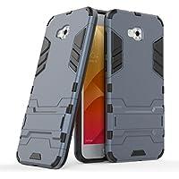 シェル の Asus Zenfone 4 Selfie ZD553KL, Happon カスタマイズされた プレミアム Asus Zenfone 4 Selfie ZD553KL カバー シェル, プレミアム 耐久性のある 保護 バンパーバック 電話 シェル - Navy Blue
