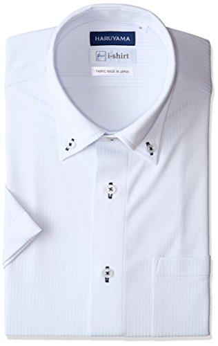 [ハルヤマ] i-shirt 【アマゾン別注】 ノーアイロン 半袖 ボタンダウンアイシャツ メンズ M162180035 サックス 日本 L(首回り41cm) (日本サイズL相当)