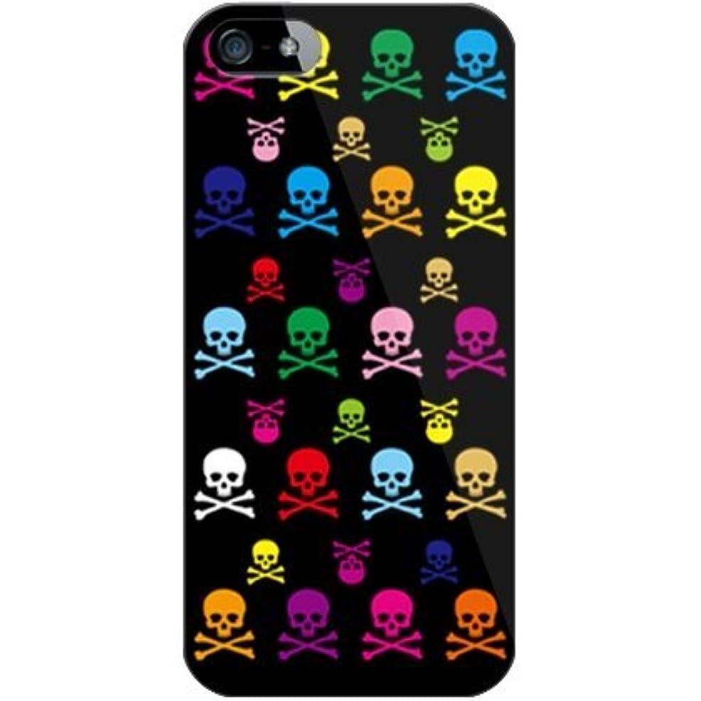 インテリア津波パーティションSECOND SKIN Skull monogram ブラック マルチ (クリア) design by ROTM/for iPhone 5/SoftBank SAPIP5-PCCL-202-Y084