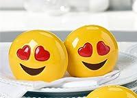 (OMG) - Emoji Design Salt and Pepper Shaker Set, Two Different Designs (OMG)