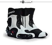 ZOE(ゼオイ)ライディングシューズ 255cm ホワイト 強化防衛性PRO スポーツバイク用レーシングブーツ/オートバイ靴