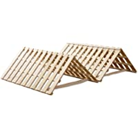 タンスのゲン すのこマット シングル ~シングルロング対応 折りたたみ ベッド 四つ折りタイプ 完成品 AM 000067 【56329】