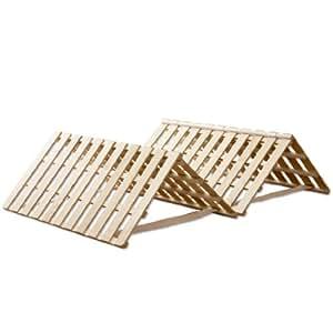 タンスのゲン すのこマット シングル ~シングルロング対応 折りたたみ ベッド 四つ折りタイプ 完成品 AM 000067