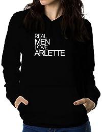 Real men love Arlette 女性 フーディー