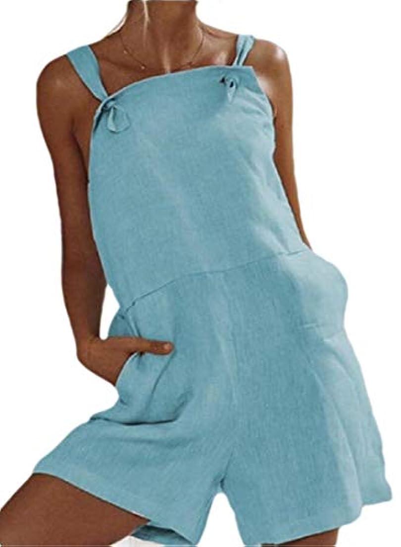 邪魔にじみ出る責Fly Year-JP Women Cotton Linen Jumpsuit Wide Leg Bib Pants Overalls Harem Shorts Rompers