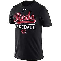 ナイキ メンズ MLB Cincinnati Reds Nike Wordmark Practice Performance T-Shirt Tシャツ 半袖 ドライフィット Black [並行輸入品]