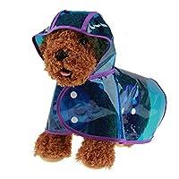 YIJUPIN 犬用レインコート カッパ 雨具 通気 帽子付 散歩用 小型犬 中型犬 大型犬レインコートペット レインスーツペット 完全防水 耐久性 快適 アウトドア 5色 10サイズ (色 : 青, サイズ : S)