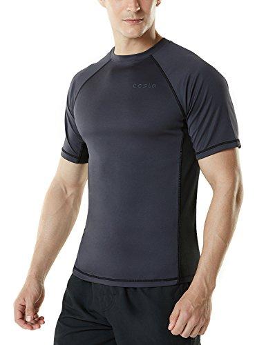 MSS01-CHK-M(テスラ)TESLAメンズ水着半袖ラッシュガードスイムシャツ[UVカットUPF50+・吸汗速乾]スイムウェアスイミングSWIM