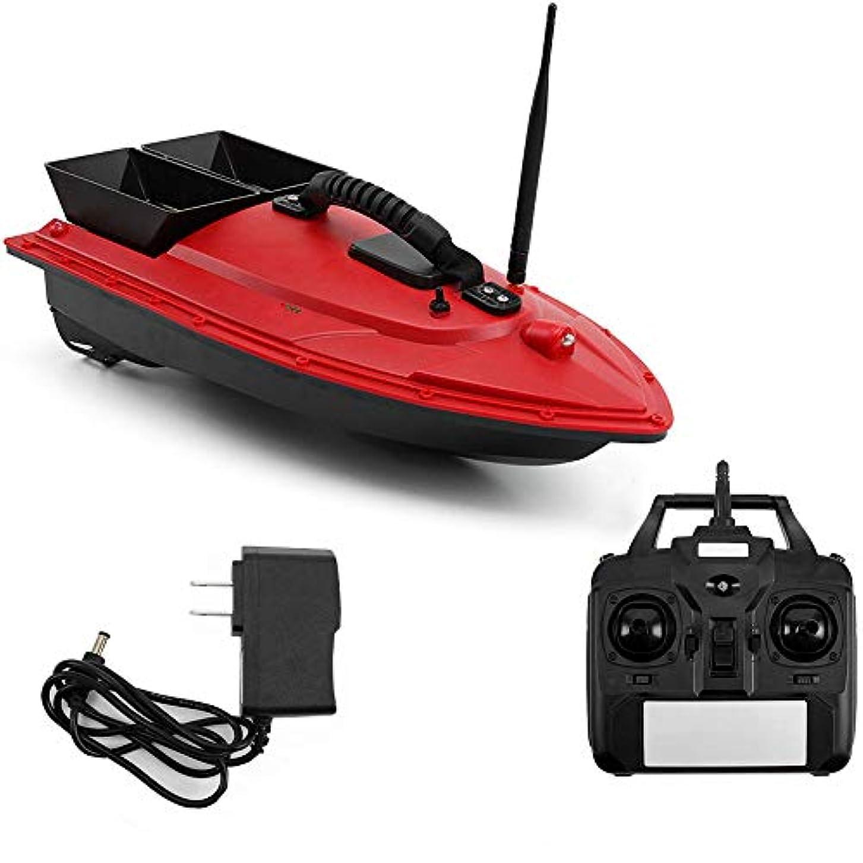 製品ペニーペルー釣り餌船RCボート500メートルワイヤレス定点リモコン1.5kg積載 魚群探知機デュアルモーターレッド(540×265×160 mm)