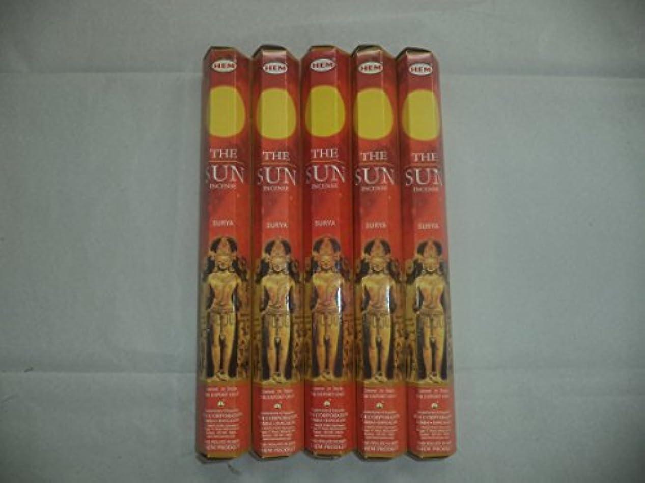 クック大陸文芸裾The Sun 100 Incense Sticks (5 x 20スティックパック)