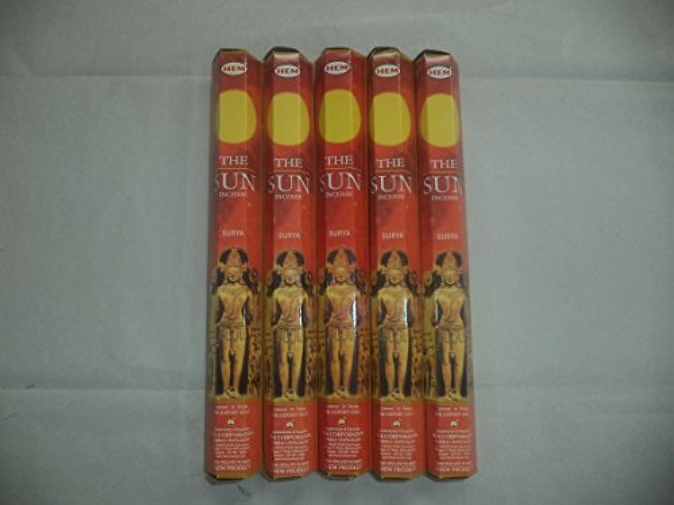 ベーシック若い判読できない裾The Sun 100 Incense Sticks (5 x 20スティックパック)