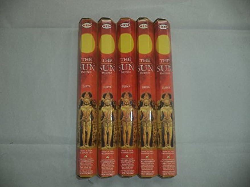 反発レンディションテクトニック裾The Sun 100 Incense Sticks (5 x 20スティックパック)