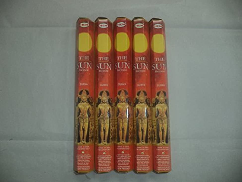 シーンエイズ中で裾The Sun 100 Incense Sticks (5 x 20スティックパック)