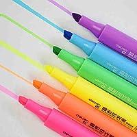 Mustwell 6色ミドルライナー 蛍光ペン クリスタル蛍光ペン 描画/絵画/オフィス/学校用マーカー。