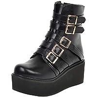 Melady Women Fashion Flatform Martin Boots
