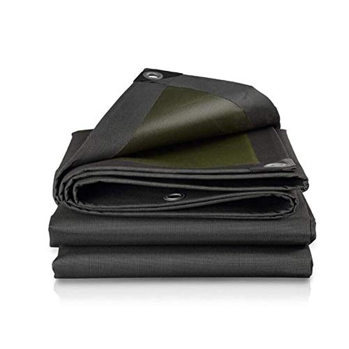 参加者パーティー無条件ZX タープ ヘビーデューティターポリン厚い防水日焼け止め布耐引裂き性耐摩耗性 テント アウトドア (Color : Black, Size : 3x5m)