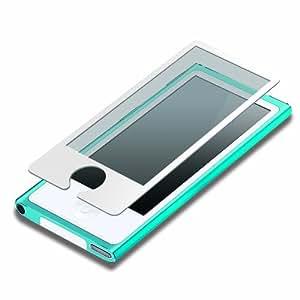 iJacket iPod nano 第7世代 液晶保護フィルム 気泡ZERO指紋防止タイプ ホワイト PG-IPNA7ZRAGWH