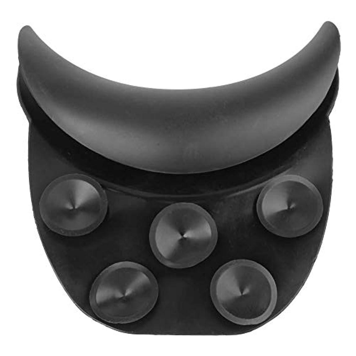 冷える聴覚受益者シリコンネックピロー シャンプー サロンネッククッション 垂直 シャンプーボウル ネックレストピロー サロンヘアウォッシュシンク
