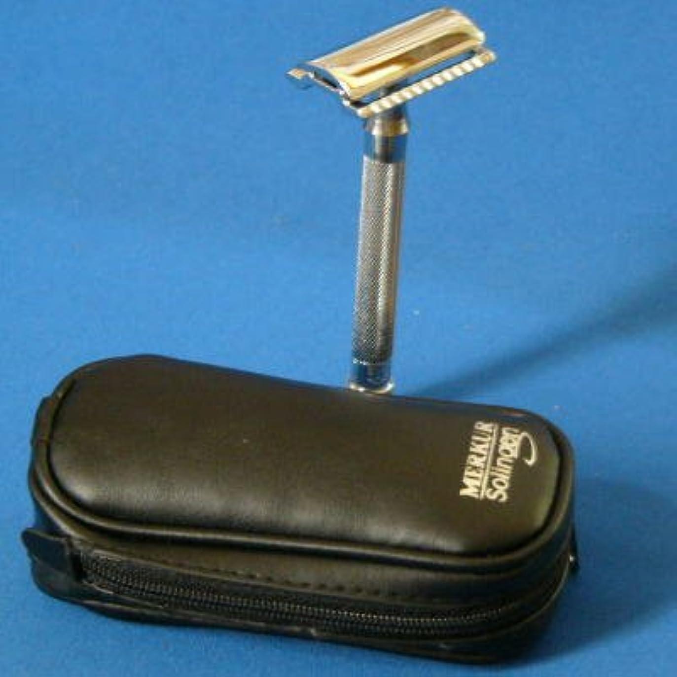 武器遺産戻すメルクール髭剃り(ひげそり) 23C(専用革ケース&替刃11枚付)