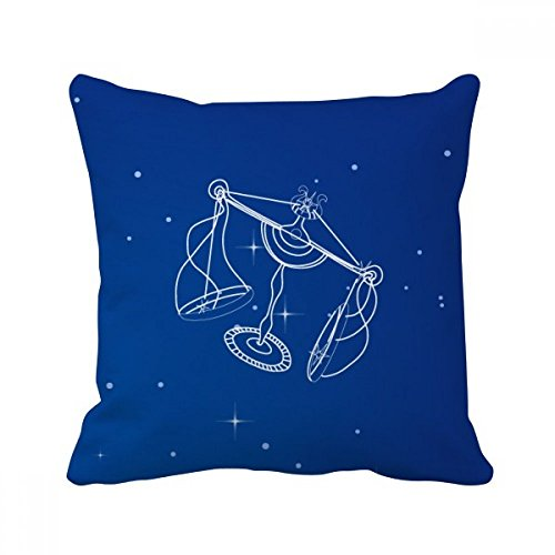 スターユニバースてんびん座パターン スクエアな枕を挿入してクッションカバーの家のソファの装飾贈り物 50cm x 50cm