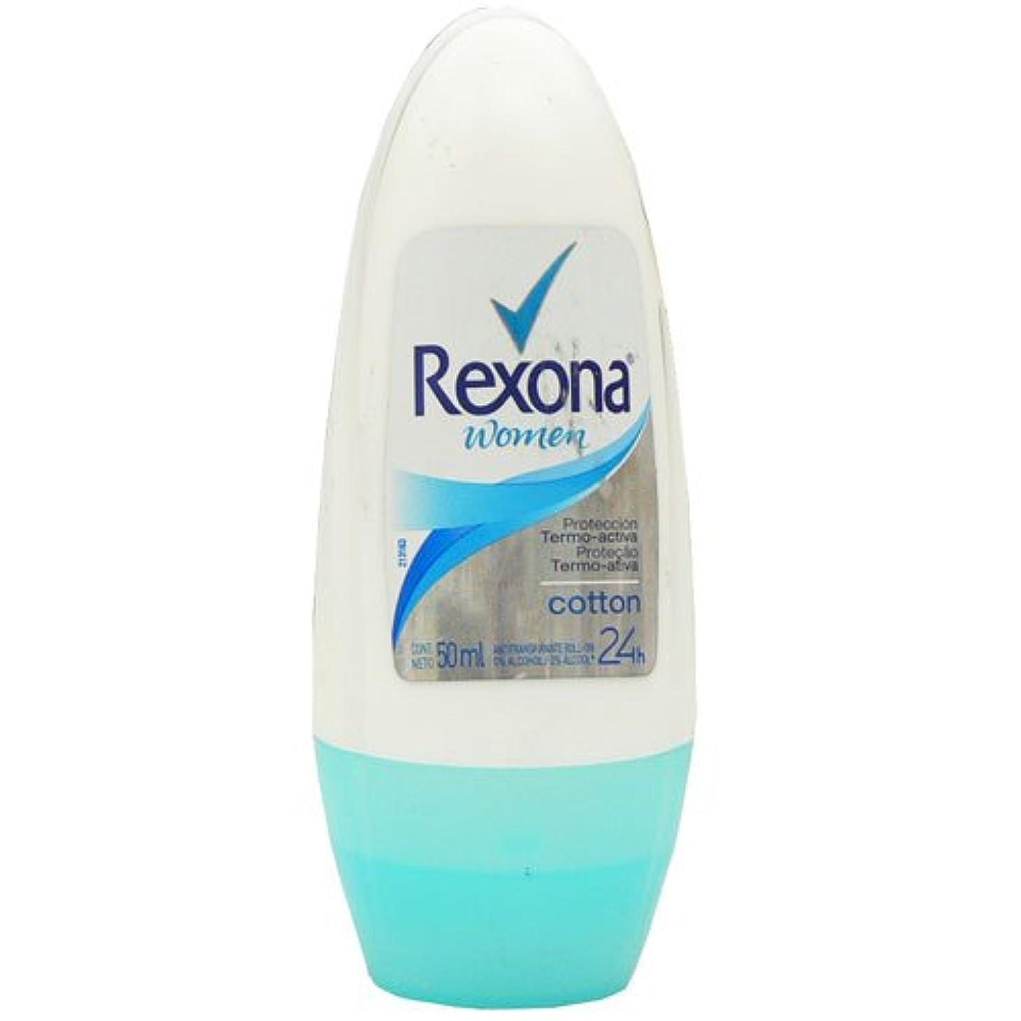 可動有効なうれしいデオドラント ワキ用 ロールオン Rexona(レクソーナ) ウーメン コットン 50ml