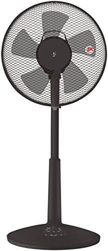 山善 30cmリビング扇風機 (押しボタンスイッチ)(風量3段階) タイマー付 ブラック YLT-C30(B)