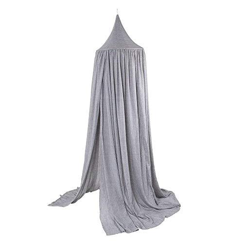 Baibu Home 天蓋 カーテン テント式 蚊帳 ベビーベッド シングル ベッドカーテ ン インテリア 蚊帳にもなる グレー 50 * 200cm 取り付け道具付き
