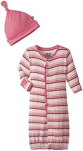 KicKee Pantsコンバータガウンとノット帽子(ベビー) カラー: ピンク