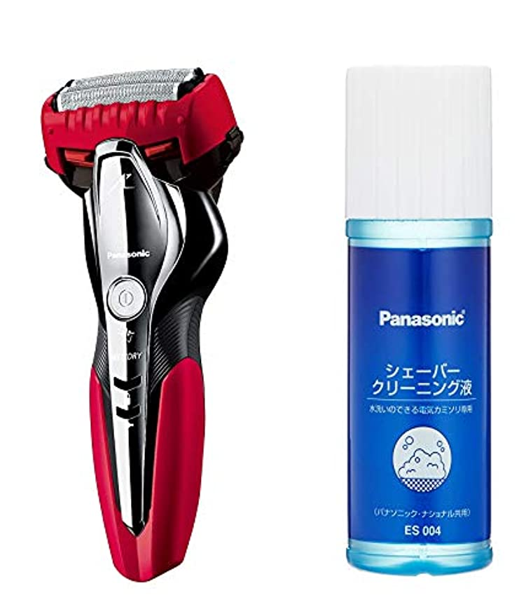 アクセス食べるコスチュームパナソニック ラムダッシュ メンズシェーバー 3枚刃 お風呂剃り可 赤 ES-ST2Q-R + シェーバークリーニング液 セット