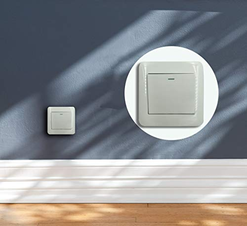 CTLAMP Wall Switch Light Switch 1 Gang 2 Way Control On/Off Switches for Lamps Fans Appliances