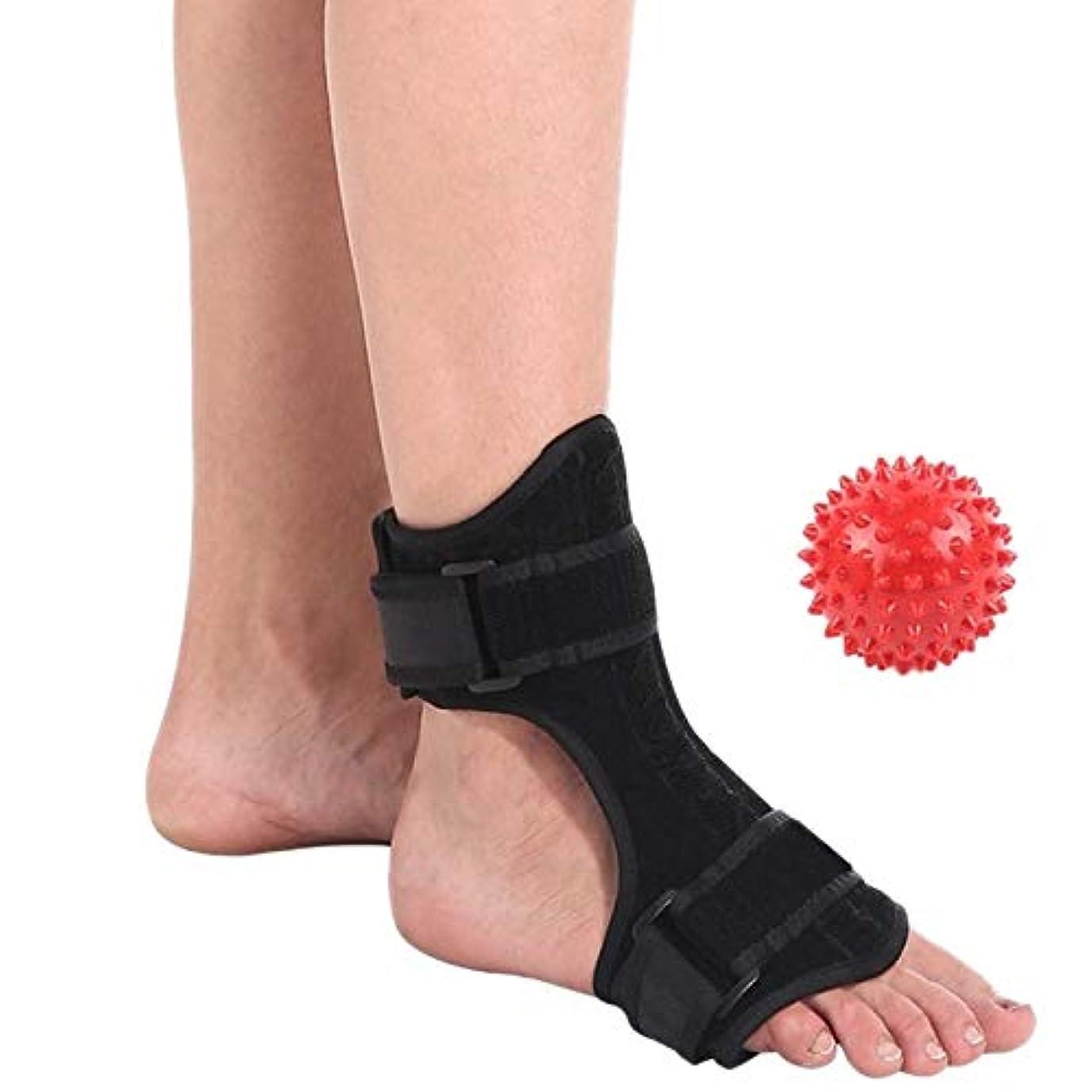 RETYLY 足底筋膜炎背側夜間&日副木足装具スタビライザー調節可能なドロップ足矯正装具サポート痛み緩和2