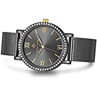 Timothy Stone Women's INDIO Polished Black Watch