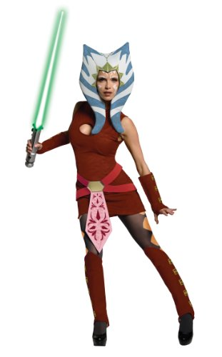 Star Wars The Clone Wars Ahsoka Adult Costume スターウォーズクローンウォーズのアソーカ?大人用コスチューム♪ハロウィン♪サイズ:Standard