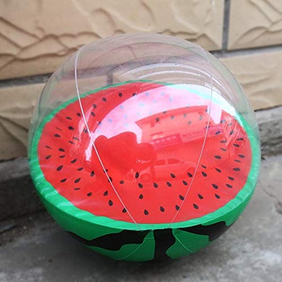 サイレンポーズ愛30センチキッズ楽しいフロートおもちゃインフレータブルスイカオレンジ形水風船夏プールスポーツボール (Green)