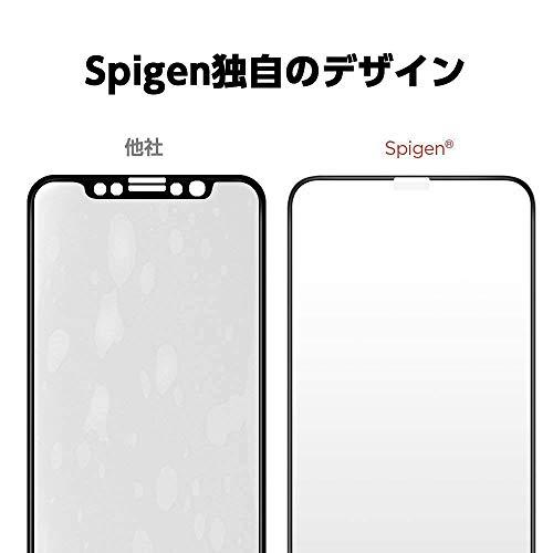 【Spigen】 iPhone XS Max ガラスフィルム 6.5インチ 用 全面保護フィルム 液晶強化ガラス 【フルカバー】 9H硬度 發油加工 3DTouch Face ID 対応 065GL25232 (FC HD Black (1枚入))