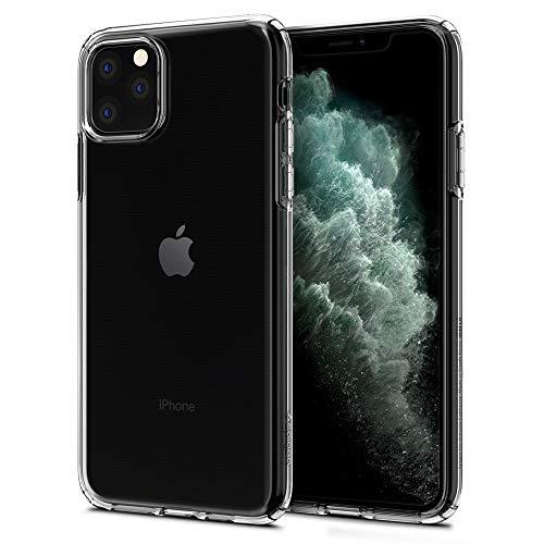 【Spigen】 スマホケース iPhone 11 Pro Max ケース 6.5インチ 対応 TPU 傷防止 レンズ保護 超薄型 超軽量 Qi充電 ワイヤレス充電 クリア リキッド・クリスタル 075CS27130 (スペース・クリスタル)
