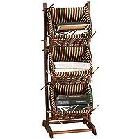 ストレージバスケット雑貨バスケット木製3層多目的リムーバブルディスプレイスタンド容易に店 (サイズ さいず : 3 Tier)