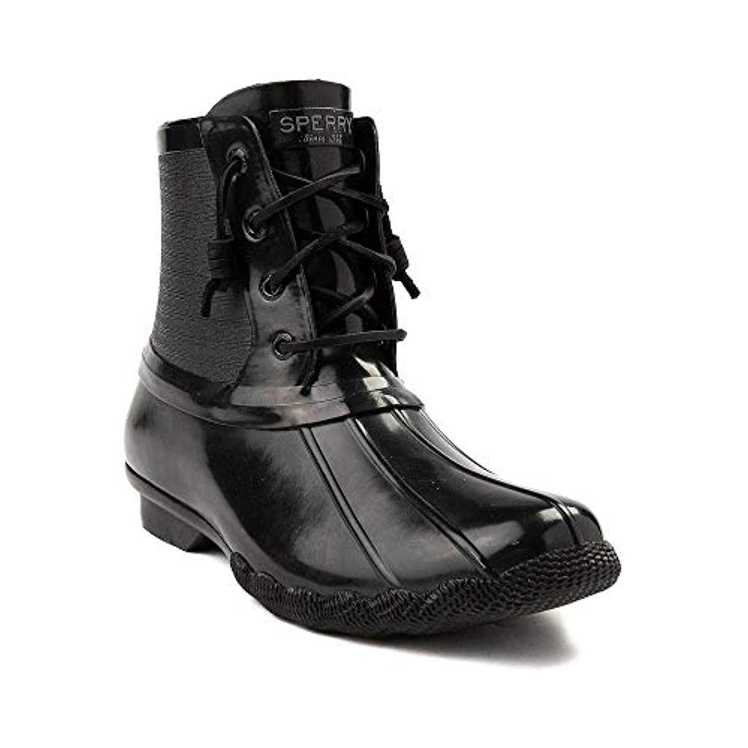 [SPERRY TOPSIDER(スペリートップサイダー)] 靴?シューズ レディースボートシューズ Womens Sperry Top-Sider Saltwater Flooded Duck Boot ブラック US...