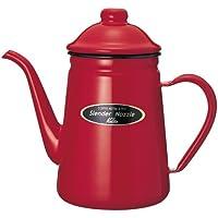 カリタ コーヒーポット ホーロー製 細口 1L レッド #52111