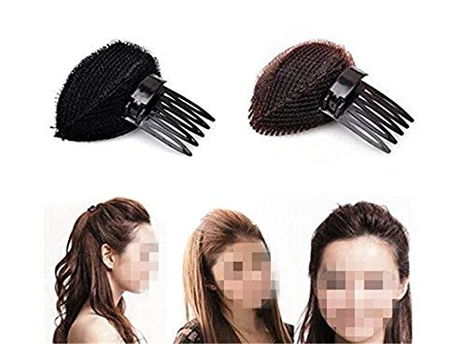 怒り汚染踏み台2pcs Hair Styler Volume Bouffant Beehive Shaper Bumpits Bump Foam Hair Styler Clip Stick Comb Insert Tool [並行輸入品]
