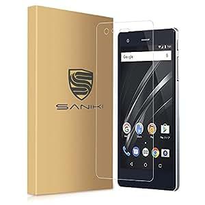 【Saniki】 VAIO Phone A 強化ガラスフィルム、 VAIO Phone A 用 【日本製素材旭硝子 / 0.26mm / 0.25D / 硬度9H / 気泡防止 】 5月 最新 改良版 VAIO Phone A,( 強化ガラスフィルム )