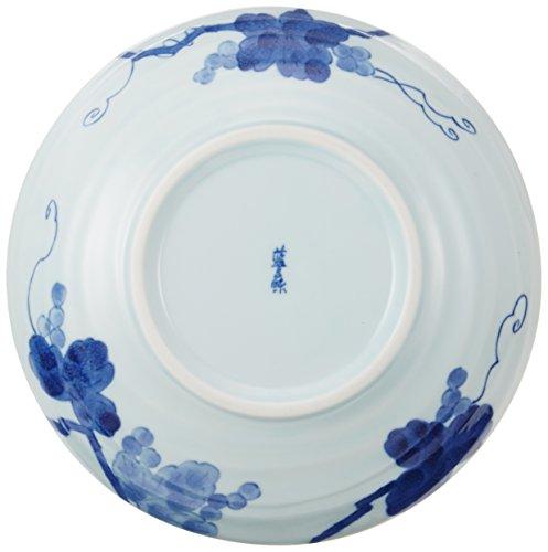 大鉢・盛鉢 藍染ぶどう6.8深皿 [20.8 x 5.2cm] 料亭 旅館 和食器 飲食店 業務用