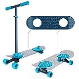 MORFBOARD スケート&スクート コンボ 2イン1 キック スクーター 3段階調節可能 高さと幅広のスケートボードデッキ 8歳以上 150ポンド 41664-1
