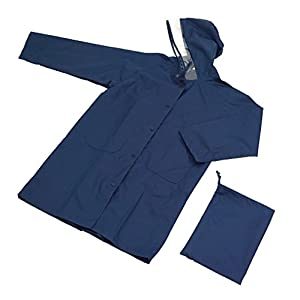 アテイン ランドセルがすっぽり入る 学童用レインコート 紺 120cm 7129