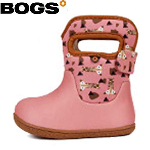 fafda83833355 BOGS(ボグス) 防寒 防水ブーツ ベイビー スノーブーツ ピンク ジラフ IND GIRAFEE IND キッズ ジュニア  (RO)(78540)78540S 13107116.