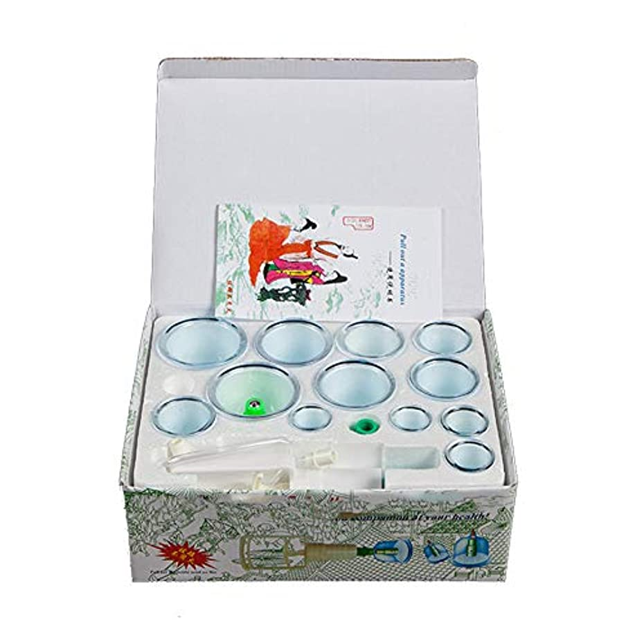ポーズパット資源12カップマッサージカッピングセット、カッピングバキュームプロフェッショナルサクションバイオマグネティック、ポンプ付きメディカル、全身チクチクする剛性疲労、リリーフネックバックペインストレス